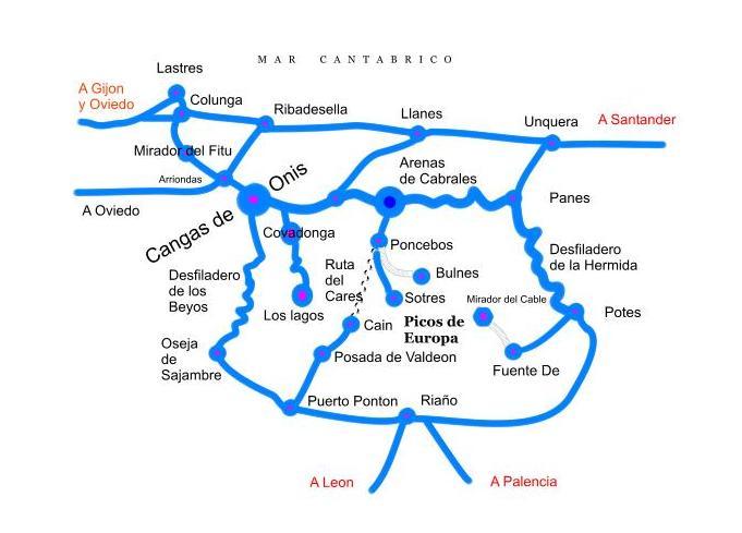 Plano de cangas de onis for Oficina turismo cangas de onis